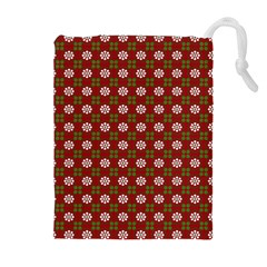 Christmas Paper Wrapping Pattern Drawstring Pouches (extra Large)