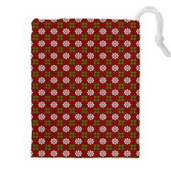 Christmas Paper Wrapping Pattern Drawstring Pouches (xxl)