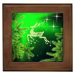 Christmas Reindeer Happy Decoration Framed Tiles