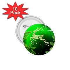 Christmas Reindeer Happy Decoration 1.75  Buttons (10 pack)