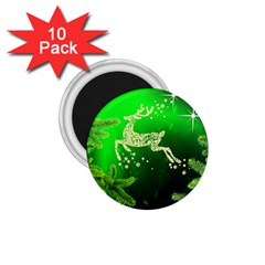 Christmas Reindeer Happy Decoration 1.75  Magnets (10 pack)