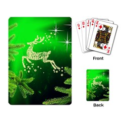 Christmas Reindeer Happy Decoration Playing Card