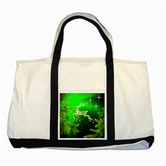 Christmas Reindeer Happy Decoration Two Tone Tote Bag