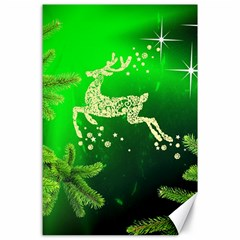 Christmas Reindeer Happy Decoration Canvas 24  x 36