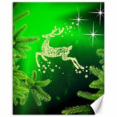 Christmas Reindeer Happy Decoration Canvas 11  x 14