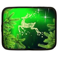 Christmas Reindeer Happy Decoration Netbook Case (large)