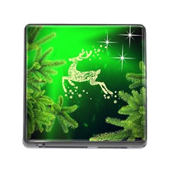 Christmas Reindeer Happy Decoration Memory Card Reader (Square)
