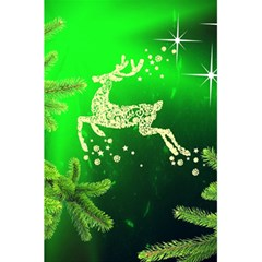Christmas Reindeer Happy Decoration 5 5  X 8 5  Notebooks
