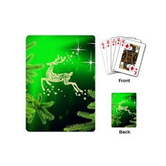 Christmas Reindeer Happy Decoration Playing Cards (Mini)
