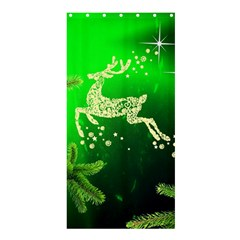 Christmas Reindeer Happy Decoration Shower Curtain 36  x 72  (Stall)