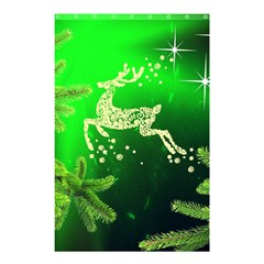 Christmas Reindeer Happy Decoration Shower Curtain 48  x 72  (Small)