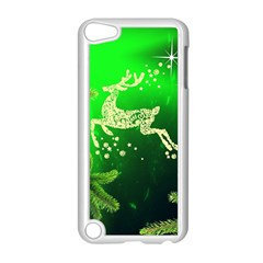Christmas Reindeer Happy Decoration Apple iPod Touch 5 Case (White)