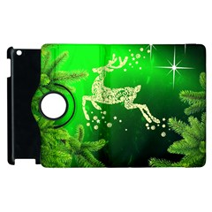 Christmas Reindeer Happy Decoration Apple iPad 3/4 Flip 360 Case