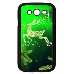 Christmas Reindeer Happy Decoration Samsung Galaxy Grand Duos I9082 Case (black)