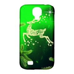 Christmas Reindeer Happy Decoration Samsung Galaxy S4 Classic Hardshell Case (PC+Silicone)