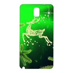 Christmas Reindeer Happy Decoration Samsung Galaxy Note 3 N9005 Hardshell Back Case