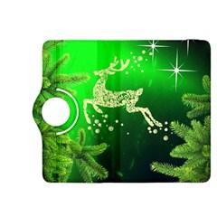 Christmas Reindeer Happy Decoration Kindle Fire Hdx 8 9  Flip 360 Case