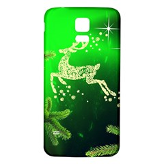 Christmas Reindeer Happy Decoration Samsung Galaxy S5 Back Case (White)
