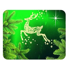 Christmas Reindeer Happy Decoration Double Sided Flano Blanket (Large)