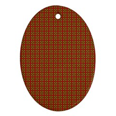 Christmas Paper Wrapping Paper Ornament (Oval)