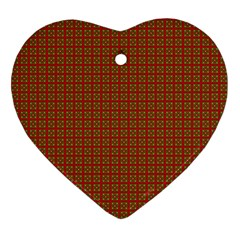 Christmas Paper Wrapping Paper Ornament (Heart)