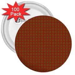 Christmas Paper Wrapping Paper 3  Buttons (100 pack)