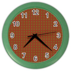 Christmas Paper Wrapping Paper Color Wall Clocks