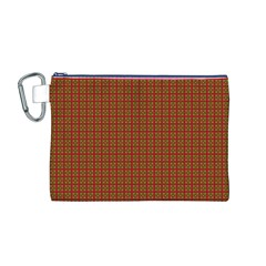 Christmas Paper Wrapping Paper Canvas Cosmetic Bag (m)