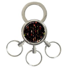 Christmas Star Advent Golden 3 Ring Key Chains