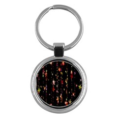Christmas Star Advent Golden Key Chains (Round)