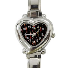 Christmas Star Advent Golden Heart Italian Charm Watch