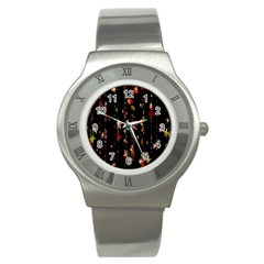 Christmas Star Advent Golden Stainless Steel Watch