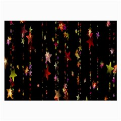 Christmas Star Advent Golden Large Glasses Cloth