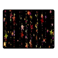 Christmas Star Advent Golden Double Sided Fleece Blanket (small)