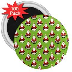 Christmas Santa Santa Claus 3  Magnets (100 pack)