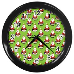 Christmas Santa Santa Claus Wall Clocks (Black)