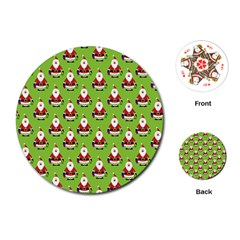 Christmas Santa Santa Claus Playing Cards (round)
