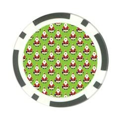Christmas Santa Santa Claus Poker Chip Card Guard (10 pack)