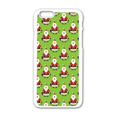Christmas Santa Santa Claus Apple Iphone 6/6s White Enamel Case