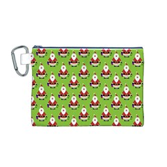 Christmas Santa Santa Claus Canvas Cosmetic Bag (M)