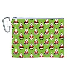 Christmas Santa Santa Claus Canvas Cosmetic Bag (l)