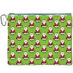 Christmas Santa Santa Claus Canvas Cosmetic Bag (XXXL)