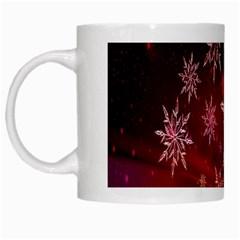 Christmas Snowflake Ice Crystal White Mugs