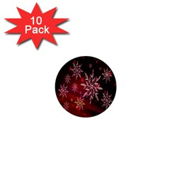 Christmas Snowflake Ice Crystal 1  Mini Buttons (10 pack)