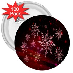 Christmas Snowflake Ice Crystal 3  Buttons (100 pack)