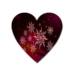 Christmas Snowflake Ice Crystal Heart Magnet