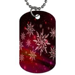 Christmas Snowflake Ice Crystal Dog Tag (Two Sides)