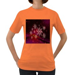Christmas Snowflake Ice Crystal Women s Dark T Shirt