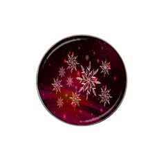 Christmas Snowflake Ice Crystal Hat Clip Ball Marker (4 pack)