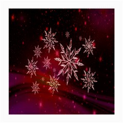 Christmas Snowflake Ice Crystal Medium Glasses Cloth (2-Side)